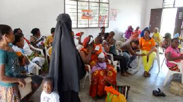 Families waiting for check ups and immunizations